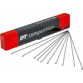 Competition black spokes 14 / 15 g = 2 / 1.8 mm box 72  296 mm