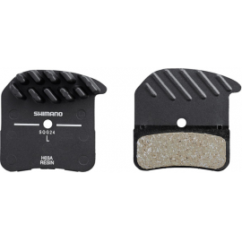H03A disc brake pads  alloy backed with cooling fins  resin