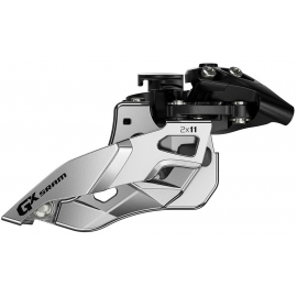 SRAM FRONT DERAILLEUR GX 2X11 MID CLAMP 34.9 FRONT PULL:  11SPD 34.9MM